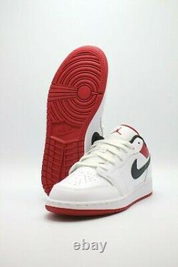 Nike Air Jordan 1 Low White Gym Rouge Noir 553560-118 Tailles Homme & Gs