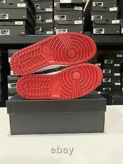 Nike Air Jordan 1 MID Chaussures Métallique Rouge Rouge Noir Blanc 554724-122 Homme Nouveau