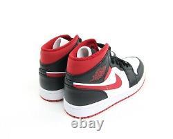 Nike Air Jordan 1 MID Gym Rouge Noir Blanc Toe Chicago Bred 554724-122