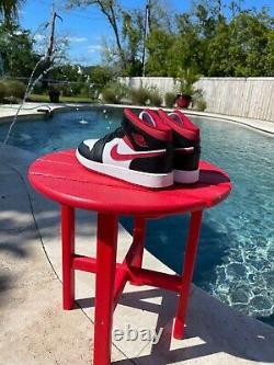 Nike Air Jordan 1 MID Metallic Gym Rouge / Noir / Blanc Dj4695-122 École De Grade Gs
