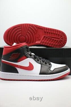 Nike Air Jordan 1 MID Metallic Gym Rouge/noir/blanc 554724-122 Tailles Homme/gs/ps