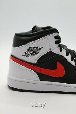 Nike Air Jordan 1 MID Shoes Black White Chile Red 554724-075 Tailles Homme/gs