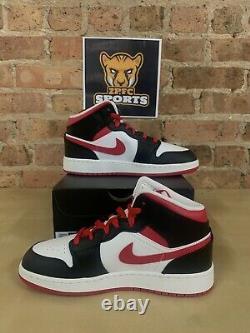 Nike Air Jordan 1 MID Très Berry Rouge Noir 554725-016 Tailles Gs