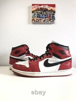 Nike Air Jordan 1 Rétro High Chicago 2013 Taille 12 Og 332550-163 Noir Blanc Rouge