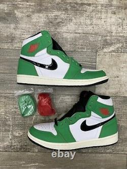 Nike Air Jordan 1 Rétro High Og Lucky Green White Black Red Sz 10 8.5 Db4612-300