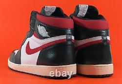 Nike Air Jordan 1 Retro High Og'black Gym Red' Homme Chaussures Taille 18 555088-061