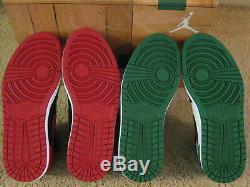 Nike Air Jordan 1 Retro I Haut Dmp Defining Moments Pack Black Red Green Men 10