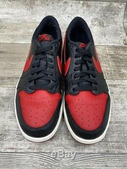 Nike Air Jordan 1 Retro Low Og 705329-001 Bred Banned Taille Blanc Rouge Noir 11.5