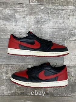 Nike Air Jordan 1 Rétro Low Og 705329-001 Bred Banned White Black Red One Sz 12