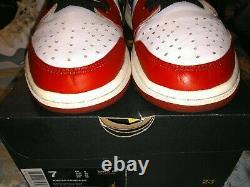 Nike Air Jordan 1 Rétro Low Og Chicago Blanc Noir Rouge Bred One Sz 7