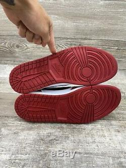 Nike Air Jordan 1 Retro Low Og Chicago Blanc Noir Rouge Bred Un 705329-600 Sz 13