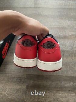 Nike Air Jordan 1 Rétro Low Og Chicago White Black Red Bred One 705329-600 Sz 13