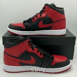 Nike Air Jordan 1 Rétro MID Interdit Chicago 554724-074 Black Red Size 4y-13