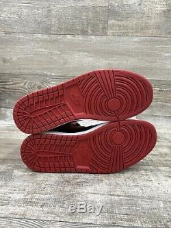 Nike Air Jordan 1 Retro Og Haut Bred Banned 11 Blanc Rouge Noir 2013 555088-023