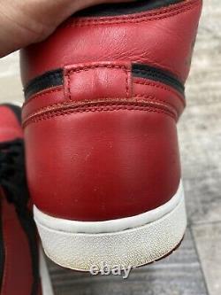 Nike Air Jordan 1 Retro Og Haut Bred Banned 13 Blanc Noir Rouge 2013 555088-023