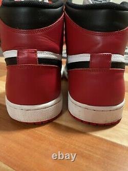 Nike Air Jordan 1 Taille 15 Rétro High Og Red Black Toe White Bred One 2013