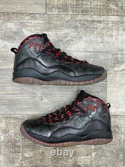Nike Air Jordan 10 Retro X Db Doernbecher Noir Rouge Gris Graphite 636214-066 7.5