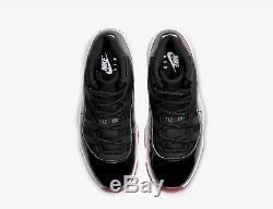 Nike Air Jordan 11 Og Bred Noir Rouge Blanc 378038-061 Stock Limité Toutes Les Tailles