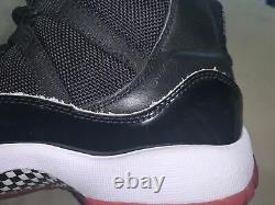 Nike Air Jordan 11 XI Rétro Bred Black Red Size 5y (378038-061)
