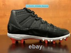 Nike Air Jordan 11 XI Rétro Td Sz 11.5 Football Cleat Bred Noir Rouge Ao1561-010