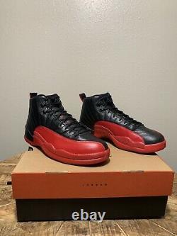 Nike Air Jordan 12 Flu Game Bred 2016 XII Rétro Noir Rouge Og 130690-002 Taille 9,5