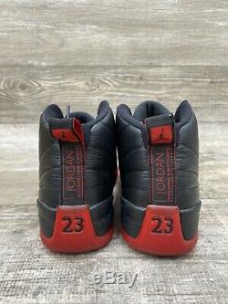 Nike Air Jordan 12 Flu Jeu Bred 2016 Réception XII Retro Noir Rouge Og 130690-002