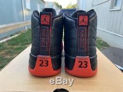 Nike Air Jordan 12 Flu Jeu Bred 2016 XII Retro Black Red Dead Stock