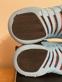 Nike Air Jordan 12 Rétro Gamma Bleu Noir Rouge 11 2013 Taille Homme 10 130690-027