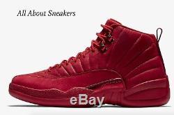 Nike Air Jordan 12 Retro Gym Rouge / Gym Rouge / Noir Stock Limité Pour Hommes Toutes Les Tailles