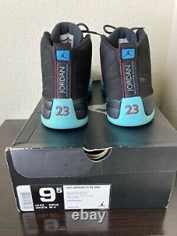 Nike Air Jordan 12 XII Retro Black Gym Red Gamma Blue White Sz 9.5 130690-027