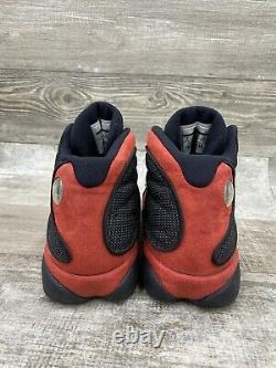 Nike Air Jordan 13 Retro XIII Bred 414571-004 Blanc Rouge Noir Réfléchissant Sz 8