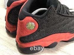 Nike Air Jordan 13 XIII Retro Bred 414571-004 Noir / Rouge Réfléchissant Hommes Sz. 9