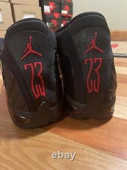 Nike Air Jordan 14 Rétro Last Shot 1 Taille 16 Noir Rouge Bred