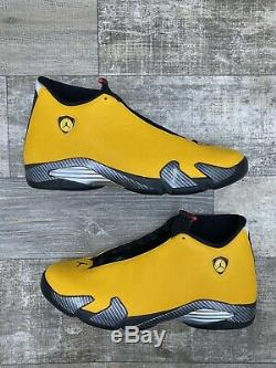 Nike Air Jordan 14 Retro XIV Bq3685-706 17 Inverse Ferrari Or Jaune Noir Rouge