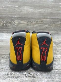 Nike Air Jordan 14 Retro XIV Bq3685-706 Sz 9 Inverse Rouge Jaune Noir Ferrari