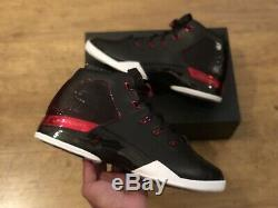 Nike Air Jordan 17 Retro Formateurs Noir Rouge Taille Uk11 Eur46 Us12 832816 001