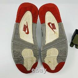 Nike Air Jordan 4 IV Retro Sz 8.5 Bred 2019 Ciment Grey Fire Red Og 308497-060