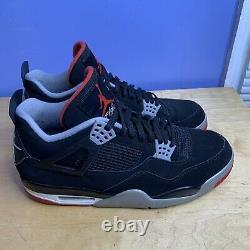 Nike Air Jordan 4 Rétro Og Bred 2019 Taille Homme 13 Noir/rouge 308497 060