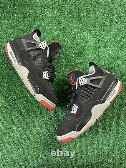 Nike Air Jordan 4 Rétro Og Bred 2019 Taille Homme 13 Noir/rouge 308497060
