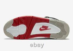 Nike Air Jordan 4 Retro Shoes Fire Red White Black Dc7770-160 Homme Ou Gs Nouveau
