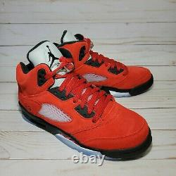 Nike Air Jordan 5 Retro Raging Bull Red Noir Toro Bravo Taille 4y-7y 440888-600