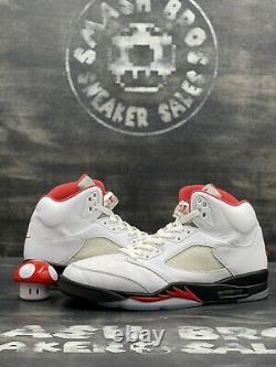 Nike Air Jordan 5 V Retro Fire Rouge Blanc Noir Argent Taille 11.5 Og Da1911-102