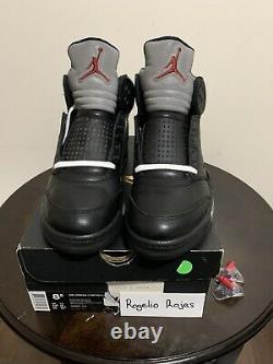 Nike Air Jordan 5 V Rétro Premio Bin 23 Black Metallic Og Sz 8 Rouge 444844-001 Og