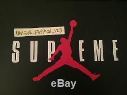 Nike Air Jordan 5 V Supreme Nyc Us 9 Royaume-uni 8 42,5 Retro 2015 Blanc Noir Rouge Aj5