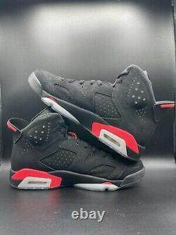 Nike Air Jordan 6 VI Biack Infrarouge Taille 10 384664-023 Noir Rouge Bred 2014