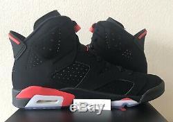 Nike Air Jordan 6 VI Infrared Retro Uk 9.5 Noir Rouge 384664 060 Deadstock Ds 1