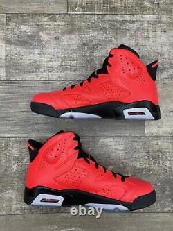 Nike Air Jordan 6 VI Infrarouge Rétro 23 Noir Rouge Toro Og Sz 10,5 384664-623