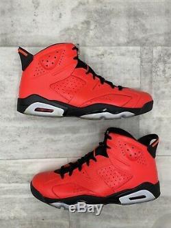 Nike Air Jordan 6 VI Taille Retro 13,5 Infrarouge 23 Noir Rouge Toro 384664-623