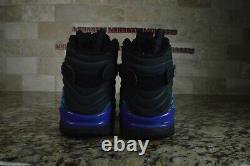 Nike Air Jordan 8 Rétro VIII Aqua Teal Noir Black Bleu Taille 10.5 305381-041