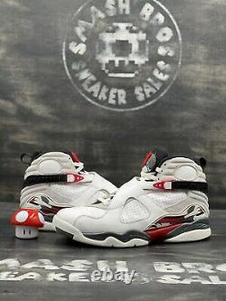 Nike Air Jordan 8 VIII Retro Blanc 2013 Taille 11 305381-103 Blanc Rouge Noir Og